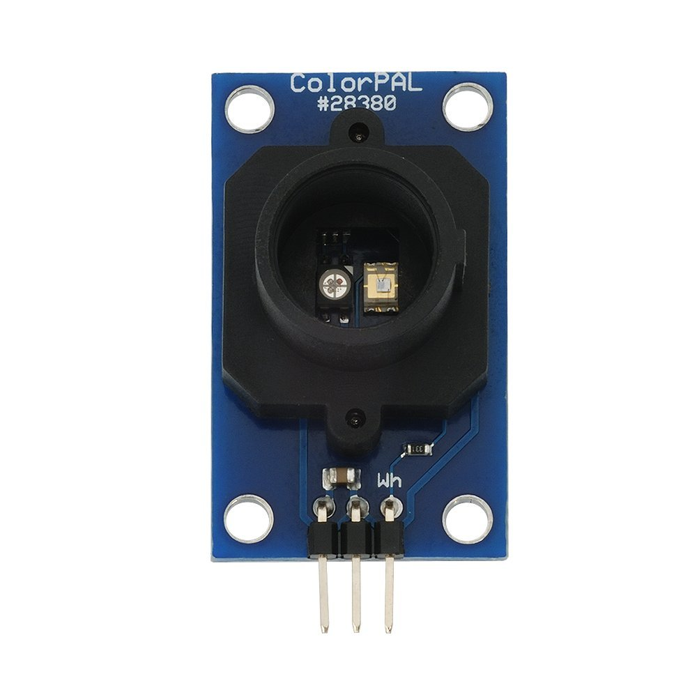Parallax 28380 ColorPAL Color and Light Sensor, RGB, 24-Bit, 3-Pin, Serial, 1.72'' x 0.90'' x 0.65'' Size
