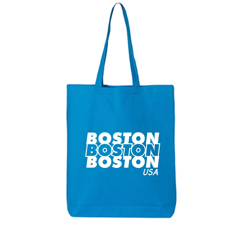 Boston USA Cotton Canvas Tote Bag