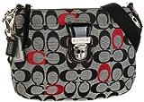 Coach Poppy Signature Swingpack Crossbody Handbag Purse Black Multi, Bags Central