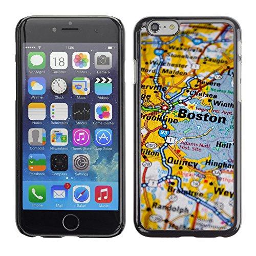 """Premio Sottile Slim Cassa Custodia Case Cover Shell // V00002405 Carte de Boston // Apple iPhone 6 6S 6G PLUS 5.5"""""""