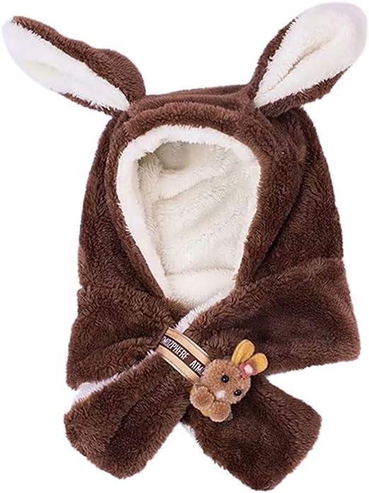 TWIFER Gorras Invierno Sombrero Orejas de Conejo Gorro de Punto Bebe Niño Niña Sombrero Caliente Gorras Pelota de Felpa Mantenga el Sombrero Cálido Suave Cómodo: Amazon.es: Ropa y accesorios