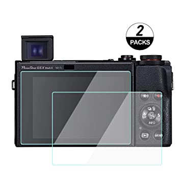 2X Canon PowerShot G1 X Mark III g1x iii Screen Protector Tempered Glass Foils