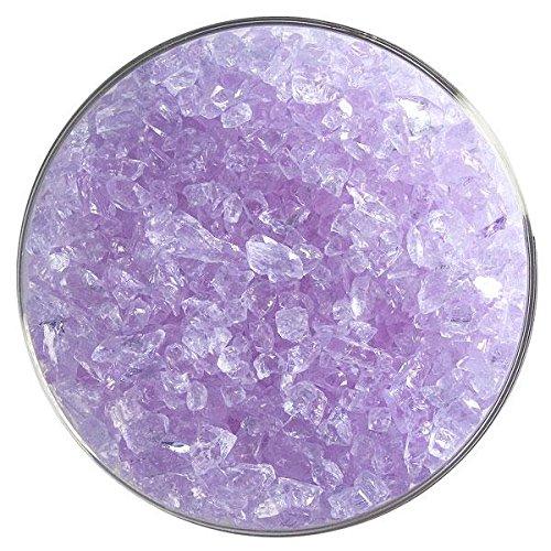Light Neo-Lavender Shift Tint Transparent Coarse Frit - 4oz - 90COE - Made from Bullseye Glass ()