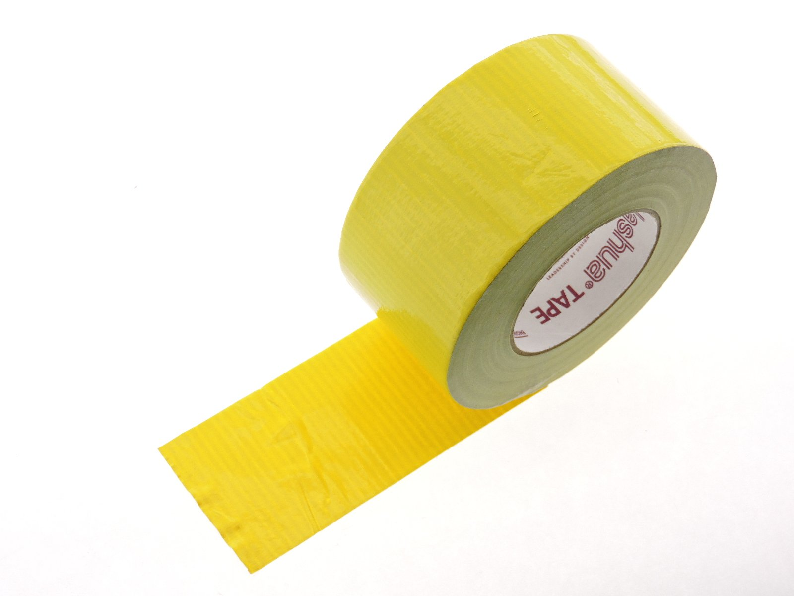 3'' in Yellow Duct Tape Nashua 2280 Heavy 9 mil Cloth Reinforced PE Back Duct Tape Water UV Resistant Hand Tearable 60yd USA Made 70 oz inch adhesion 20% elongation 24 lb in tensile strength