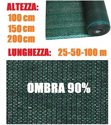 ITALFROM Rollo Malla Lona Ocultación Verde Varios Tamaños para Red metálica: Amazon.es: Jardín