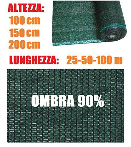 ITALFROM rossoolo Telone Ombreggiante Frangivista verde Varie Misure per Rete Metallica (H150cmX100m)