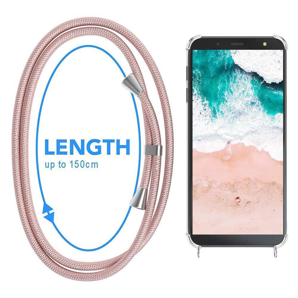 Funda para Xiaomi Mi Mix 2S con Cuerda Xiaomi Mi Mix 2S Carcasa Transparente TPU Suave Silicona Case con Correa Colgante Ajustable Collar Correa de Cuello Cadena Cord/ón Anti-Choque Multicolor