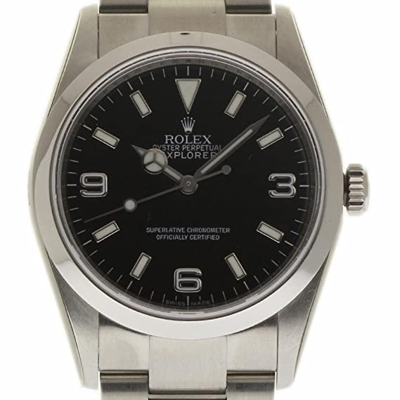 Rolex Explorer swiss-automatic Mens Reloj 114270 (Certificado) de segunda mano: Rolex: Amazon.es: Relojes