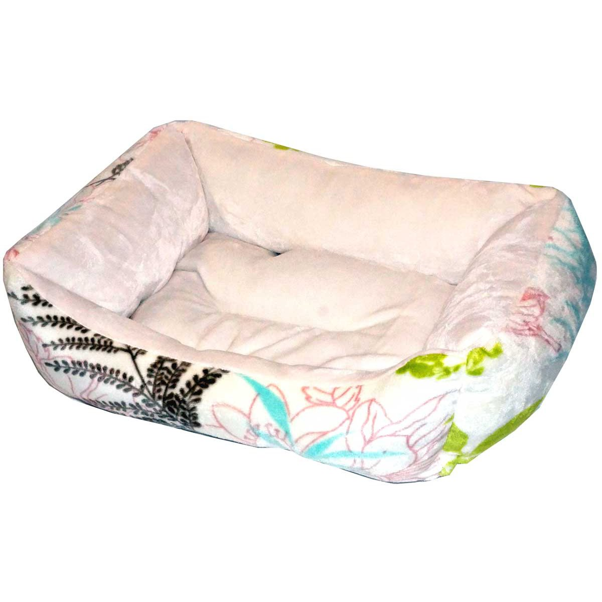 Green Beige BNF Home SCHC-13037 Classic Collection Spring Leaves Dog Cat Animal Pet Bed, 24 by 19 by 6 , Green Beige