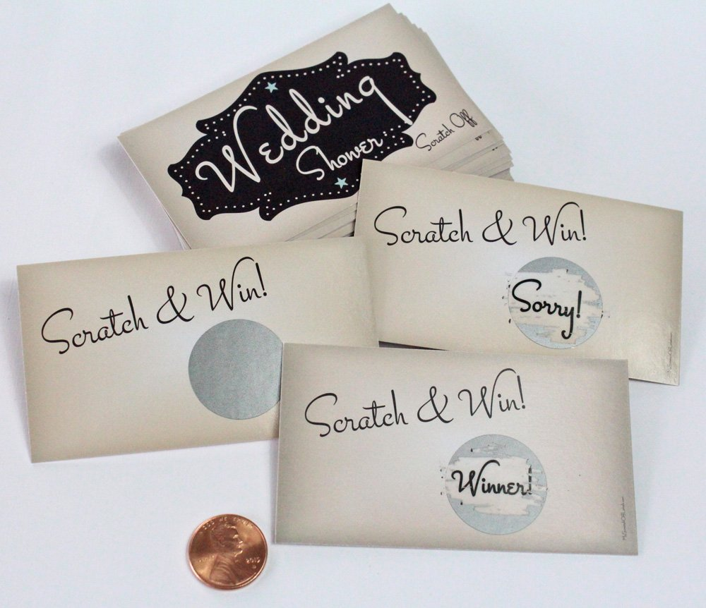 Amazon.com: My Scratch Offs Wedding Shower Scratch Off Game Card ...