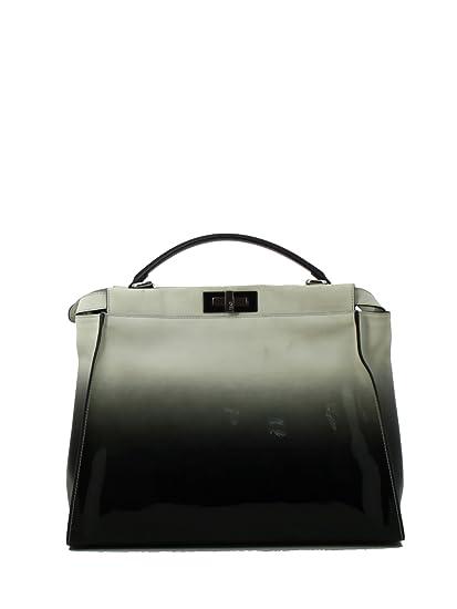 54cf73d2 Fendi Women's 8Bn2102xxf0z29-Mcf White/Black Leather Handbag: Amazon ...