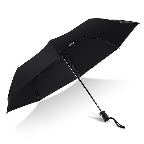Paraguas Compacto y Resistente al Viento, TechRise Paraguas Plegable con Apertura y Cierre Automático,