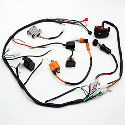 amazon com wiring harness loom key solenoid performance coil rh amazon com