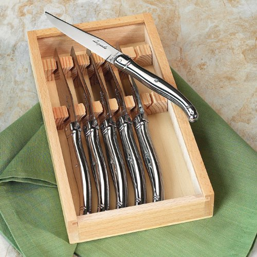 picture of Laguiole 6 Piece Steak Knife Set Color: Stainless Steel