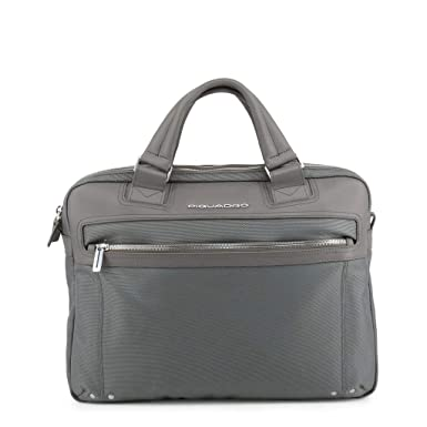 più recente 58799 bf4fa Piquadro Men Briefcases Grey Genuine Designer Bag: Amazon.co.uk ...