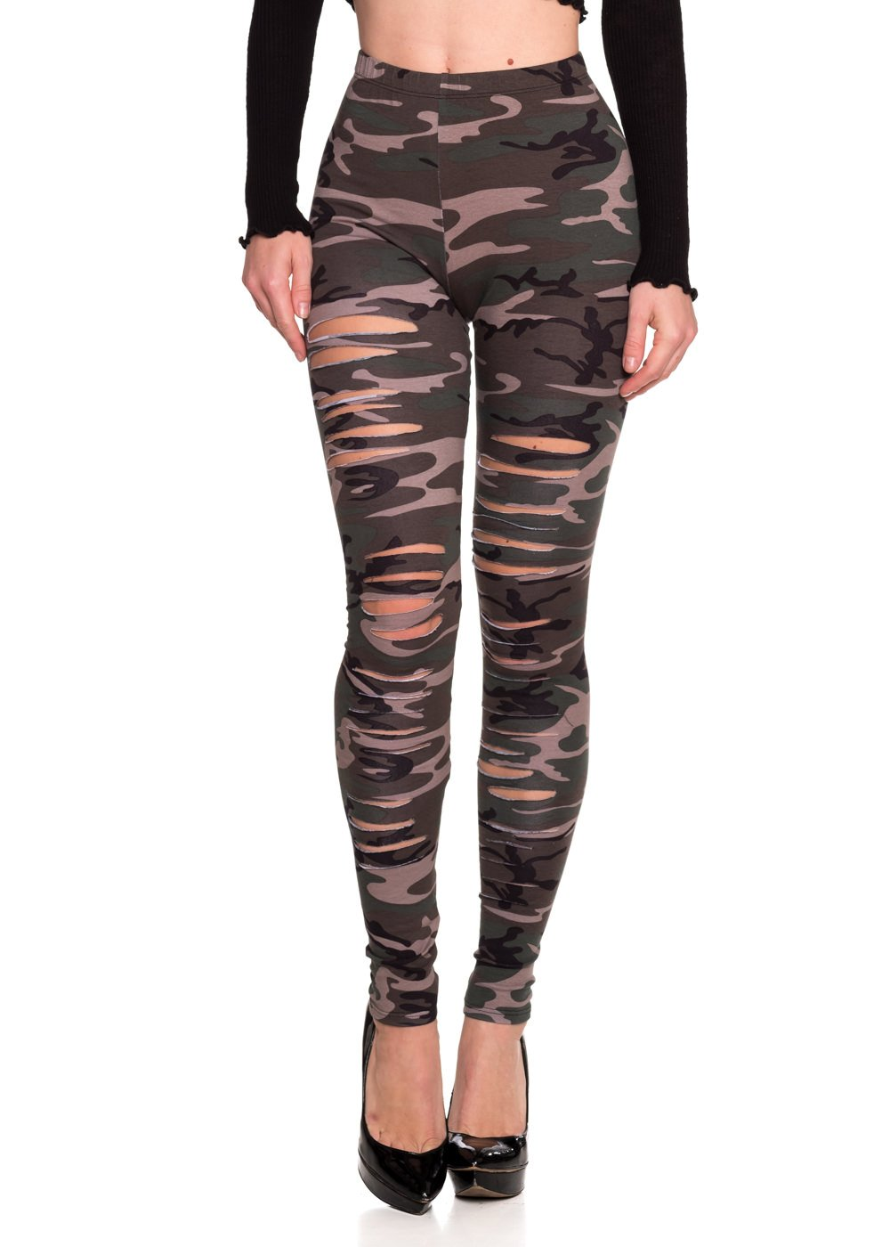 Women's J2 Love Ripped Cotton Legging, Large, Camouflage