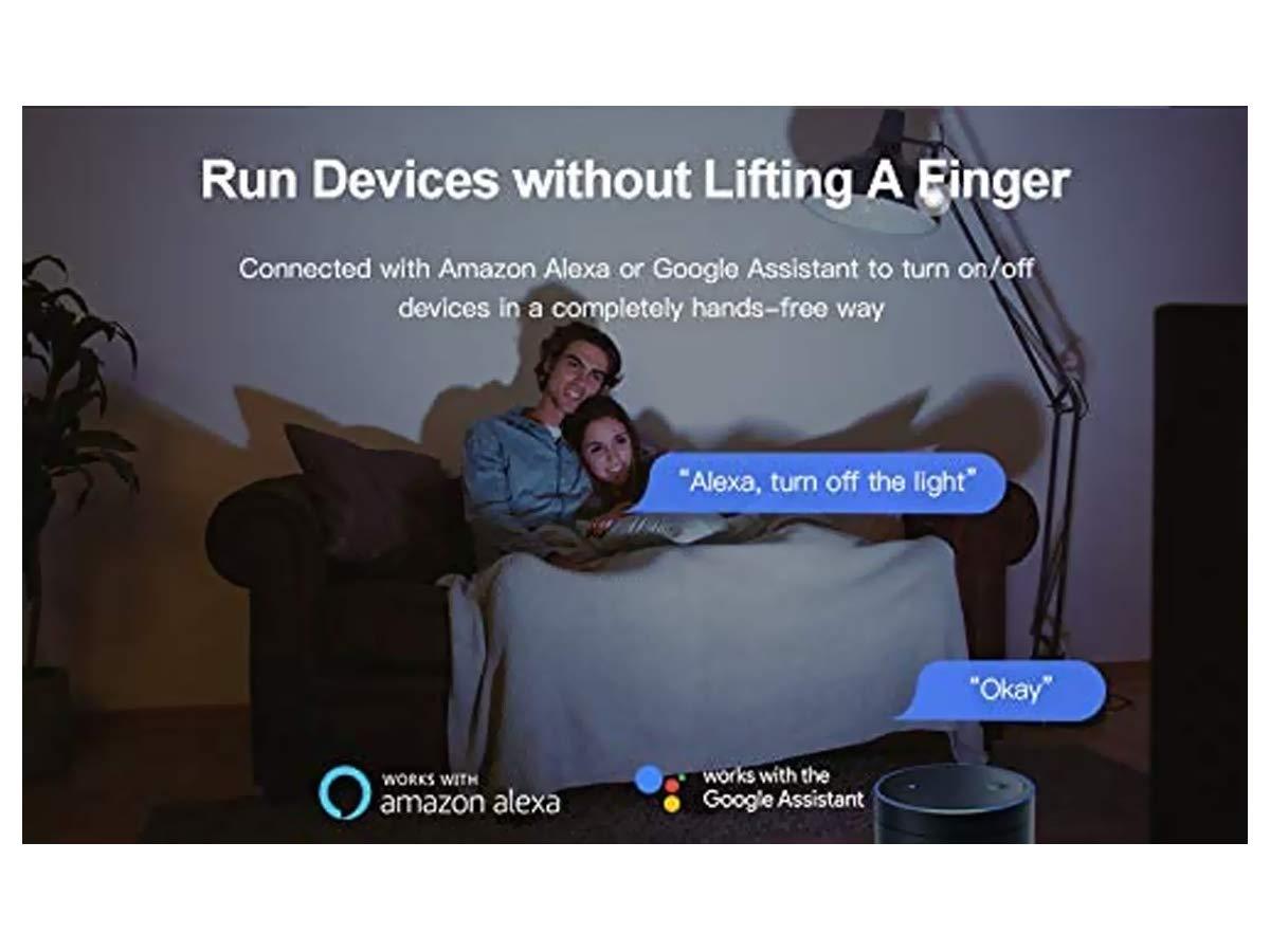 funciona con interruptor y desviador compatible con  Alexa y Google Home Sonoff SH9309 Mini interruptor inal/ámbrico Smart Switch WiFi dom/éstico