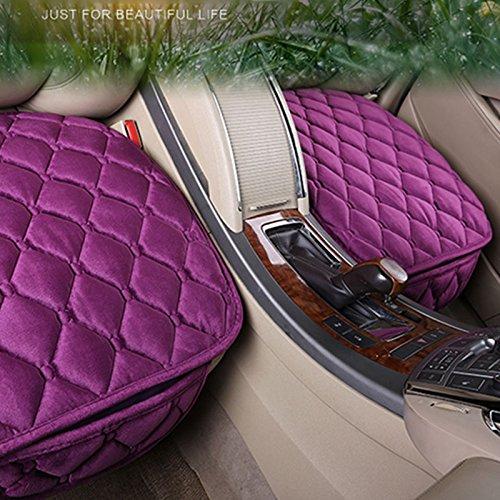 Sedeta 3PCS Silk Velvet Automotive Interior Car Vehicle Front Rear Seat protector Covers Set Cushion Mat Decor for family car seat cushion covers shop car seat covers cushion car seat covers with cus