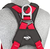 3M Protecta PRO 1191259 3M Protecta Fall Protection Full Body Harness, Back and Side D-Ring's, 420  lb. Capacity, Small, Red/Gray