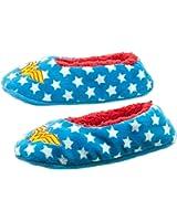 Wonder Woman Logo and Stars Womens Soft Cozy Slipper Socks