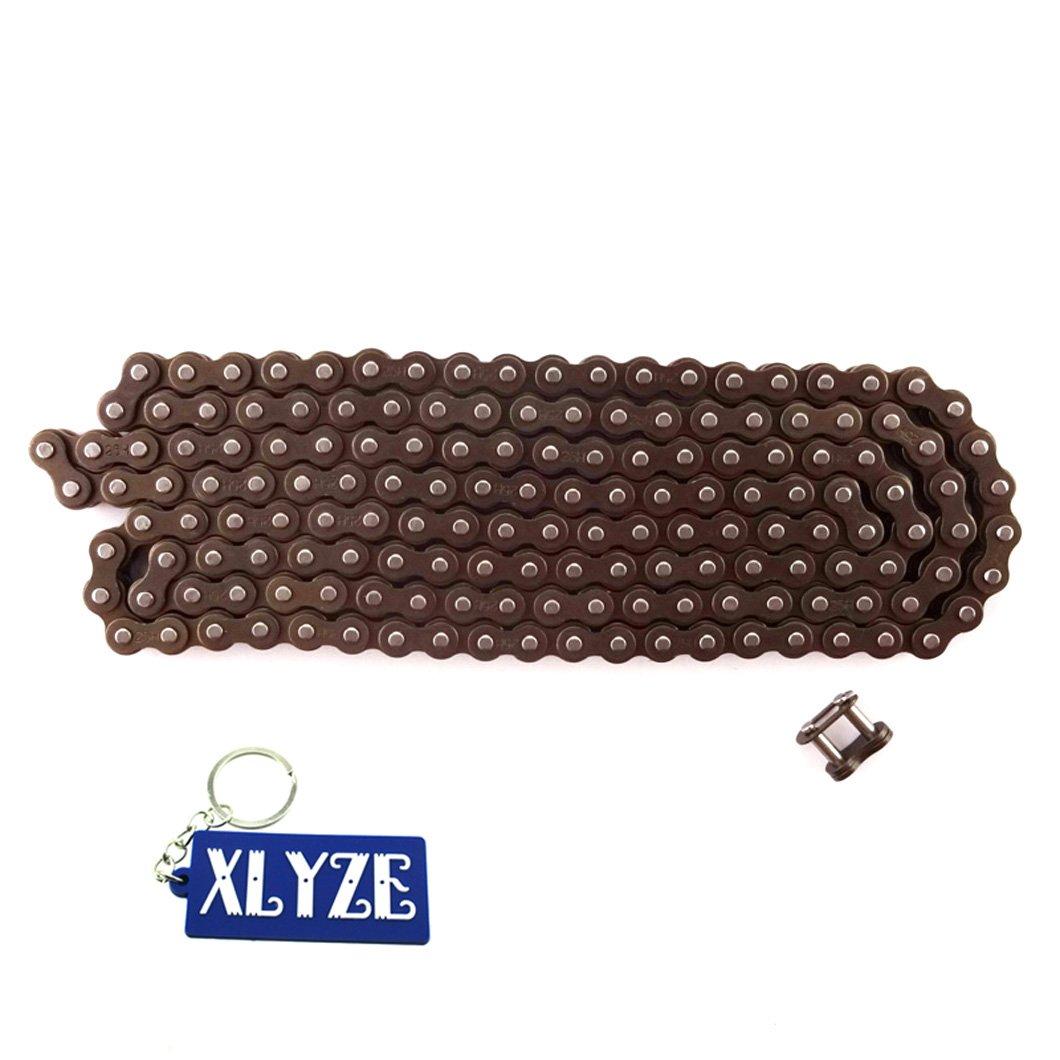 XLYZE 25H 158 Cadena de enlaces con Spare Master Link para 47cc 49cc Mini Dirt Kids ATV Quad Pocket Bike Moto