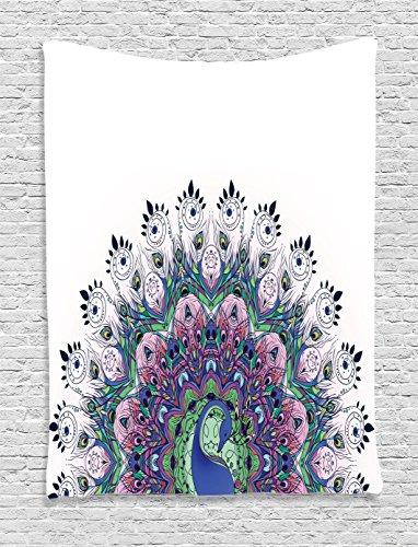 Peacock Tapestry Ambesonne Wildlife Oriental