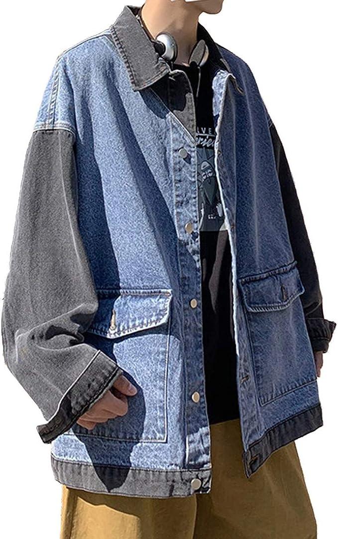 [もうほうきょう] ジャケット メンズ デニムジャケット ジージャン Gジャン コート 春秋 カジュアル アウター おしゃれ