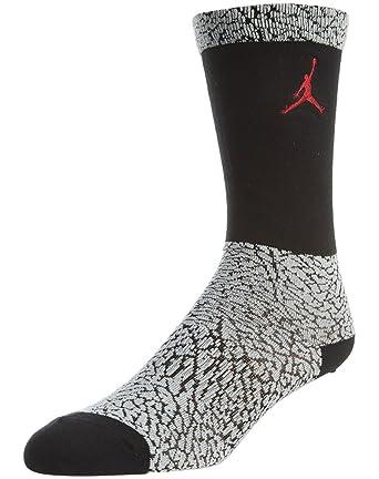 Nike Hombres de Air Jordania elefante tripulación calcetines blanco/negro/gimnasio rojo - 724929