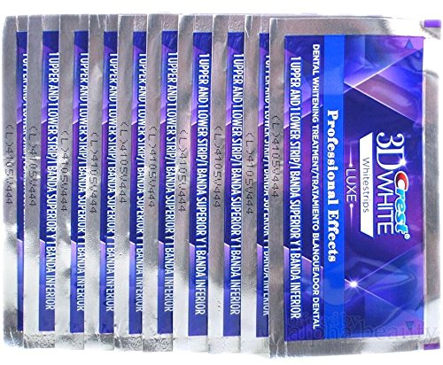 Crest 3d White Professional Whitening Effects Whitestrips (20 Strips/10 Pouches)