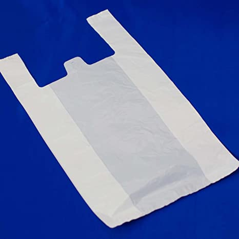 SEIZA Bolsa de Plástico Blanca Tipo Camiseta (200 Ud.) (33 X ...