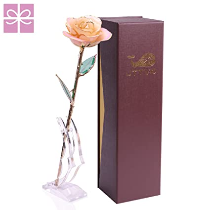 jttvo gifts for her birthday wedding anniversary 24k gold coated rose preserved forever by