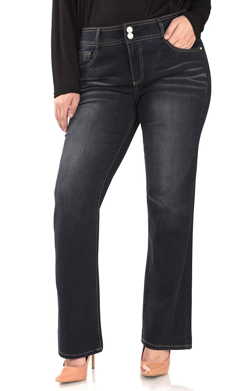 Angels Jeans Women's Plus-Size Curvy Bootcut Jean