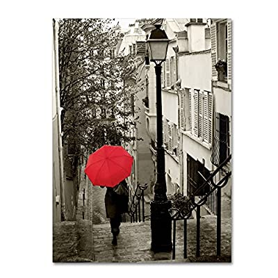 Paris Stroll II Artwork by Sue Schlabach, 18 by 24-Inch Canvas Wall Art - Artist: sue Schlabach Subject: landscapes Style: contemporary - wall-art, living-room-decor, living-room - 61Ker04qzbL. SS400  -