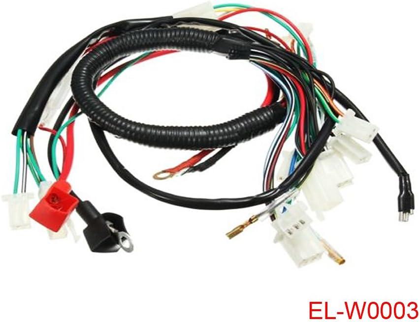 amazon.com: electric engine start wiring loom harness for 50cc 70cc 90cc  110cc 125cc pit dirt bike atv quad: automotive  amazon.com