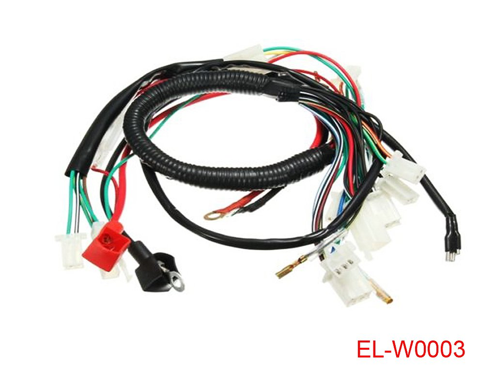 Electric Engine Start Wiring Loom Harness For 50cc 70cc New 50 70 90 110cc 125cc Wire 90cc Pit Dirt Bike Atv Quad Automotive