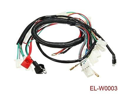 amazon com electric engine start wiring loom harness for 50cc 70cc