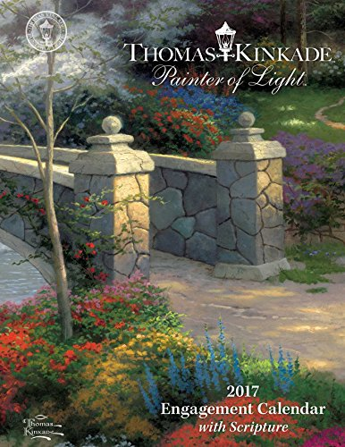 Christmas Thomas Kinkade Home For (Thomas Kinkade Painter of Light with Scripture 2017 Engagement Calendar)