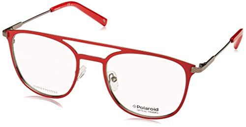f8a5a2b992 Polaroid Pldd348 Monturas de gafas, Unisex Adultos, Red, 52 mm ...
