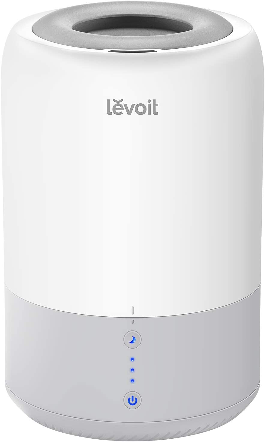 LEVOIT Humidifiers for Bedroom, Cool Mist Air Vaporizer for Babies, Ultrasonic Top Fill Essential Oil Diffuser,Smart Sleep Mode,Auto Shut Off, Quiet, 1.8L, Gray