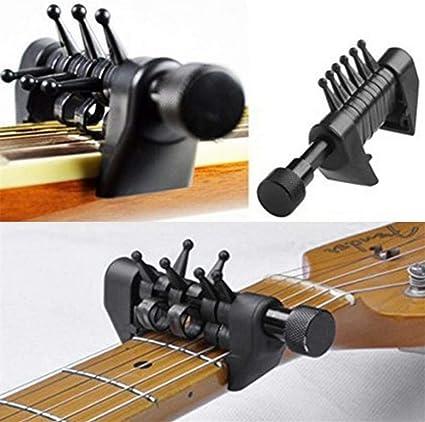 Afinación de sonido multifunción Abrazadera ABS Guitarra Capo ...