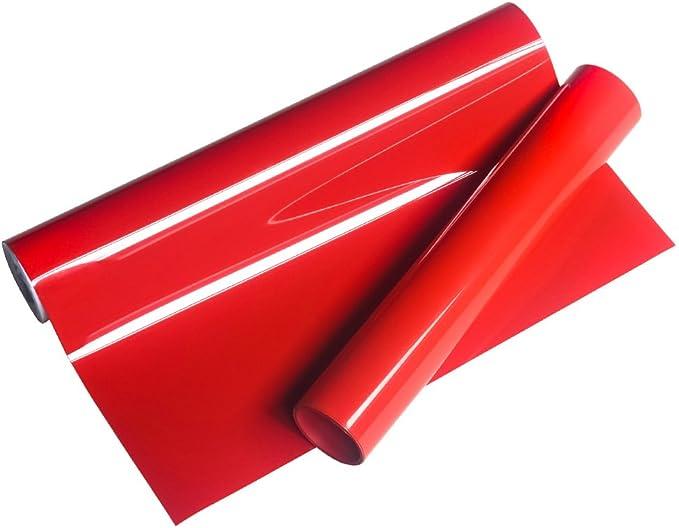 Vinyl Frog HTV 25x155cm PU Red Heat Transfer Vinyl Roll para ...