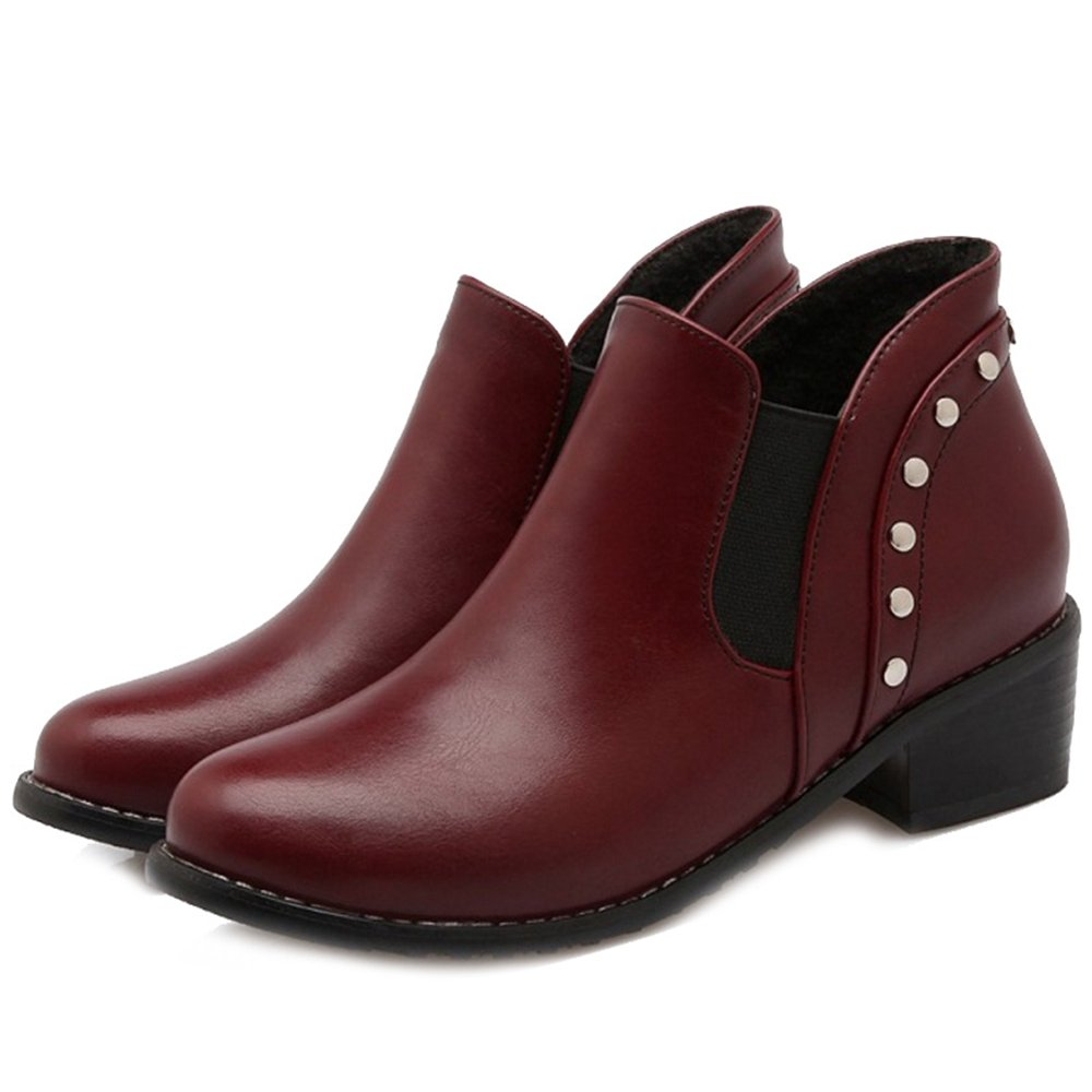 Onewus Women Oversized Ankle Booties Fashion Pull-On Chelsea Boots