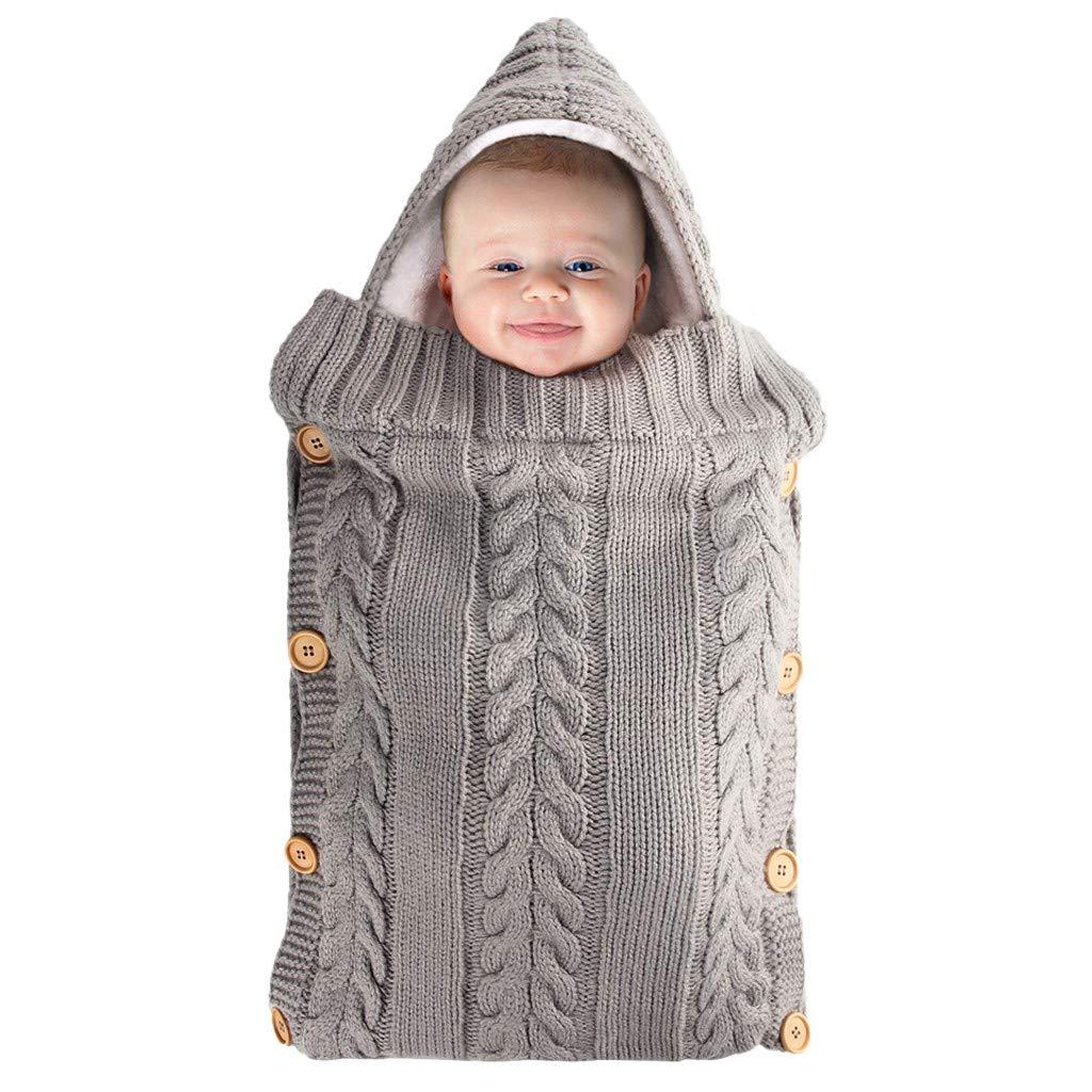 Manta para Beb/é Reci/én Nacido para Cochecito de Beb/é Suave Tejido de Punto Bot/ón Manta de Forro Polar para Ni/ños Ni/ñas