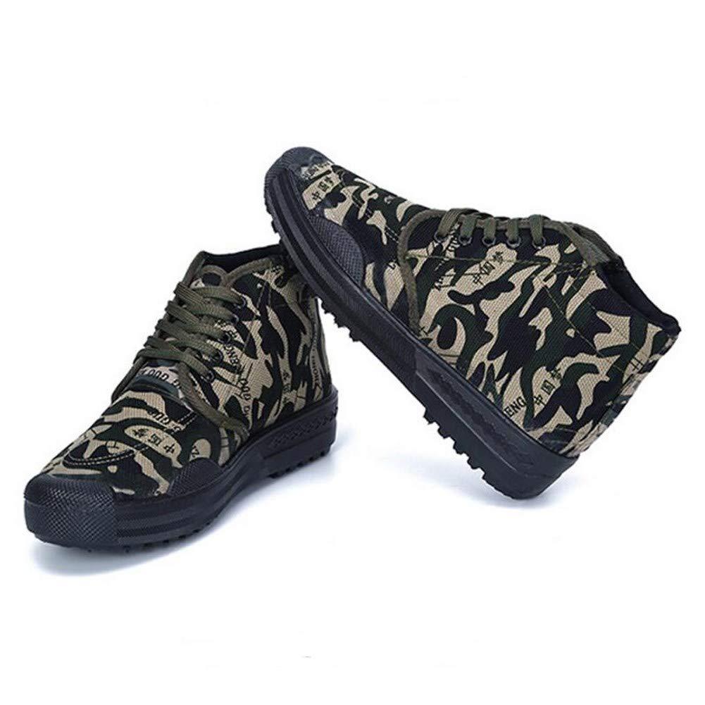 RcnryHohe Verschleißfestigkeit Camouflage Bergsteigen Outdoor Schuhe Canvas Farm Baustelle Gummi Gummi Gummi Schuhe b,44 b38f50