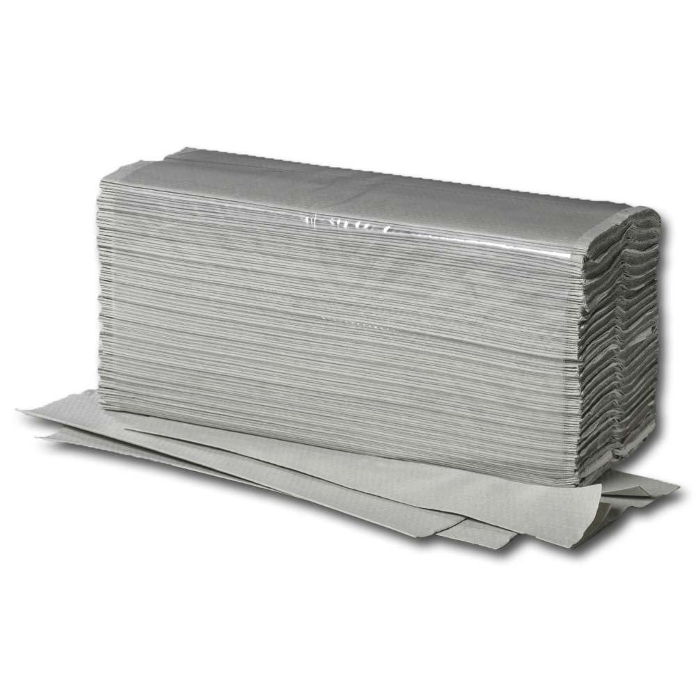 Grau 5000x Papierhandt/ücher 25 x 23 cm 1-lagig Zick-Zack-Falz recycling