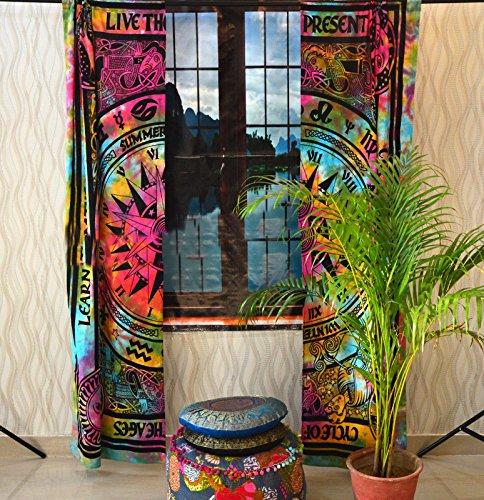 (Sophia Art Indian Celtic Curtain Mandala Cotton Hippie Tapestry Door Decor Window Curtains (Multi))