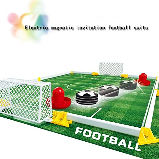 Air Power Training Football Game Feiqio Kids Toys Hover Soccer Ball Set with 2 Goals Indoor Soccer Ball with LED Light-Football Toy for Boys Girls Age 2 and up Best Gift Red