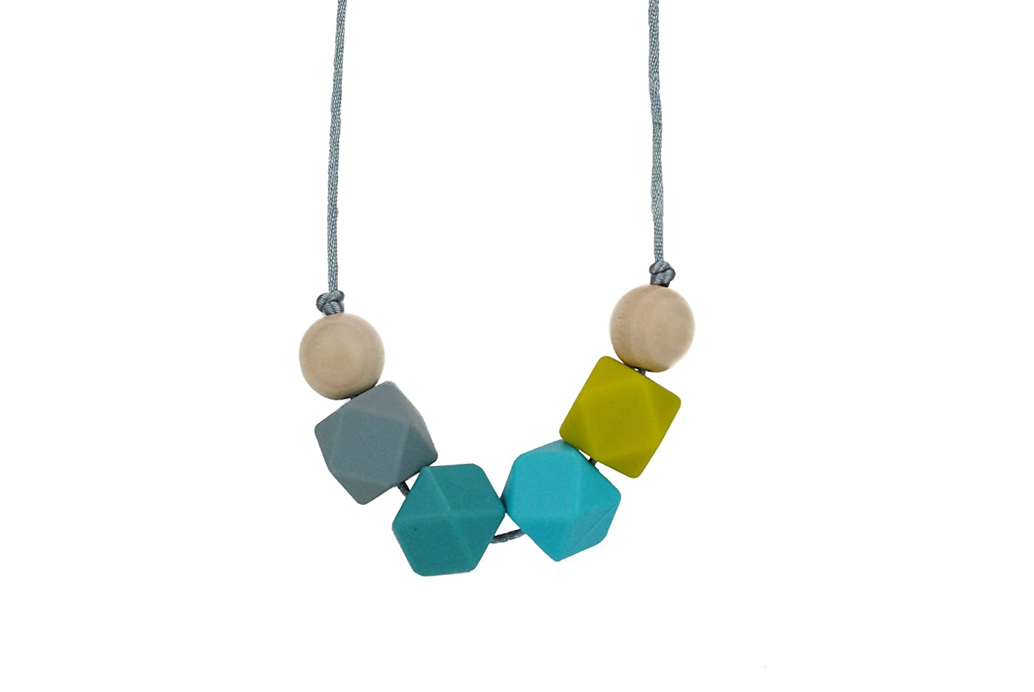 Glitter and Spice Silicone Teething Necklace Geometric Collection Emmalyn