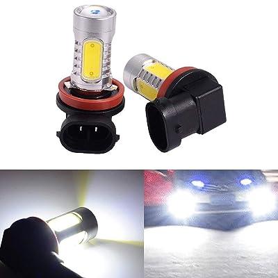 ATMOMO 2 PCS Car H8 H11 33-SMD LED Xenon Head Light Headlight Bulbs Lamp or Daytime Running Lights Lighting DRL 12V 7.5W(White): Automotive
