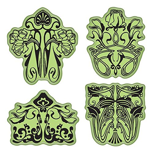 Inkadinkado Stamping Gear Cling Stamps, Art Nouveau Floral - Sets Line Stamp
